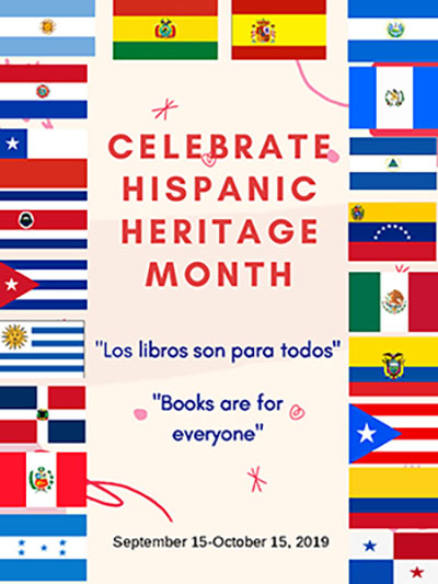 LITS Hispanic heritage month display sign