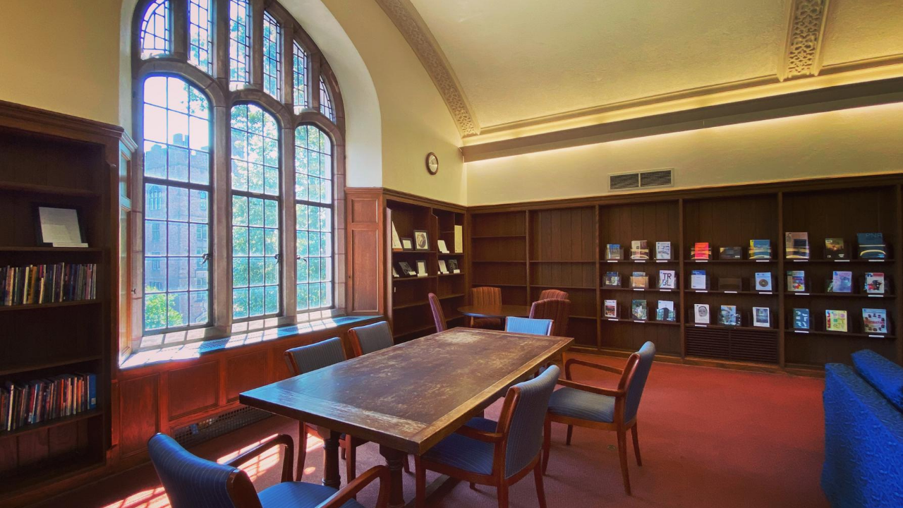 A table in the Stimson Room